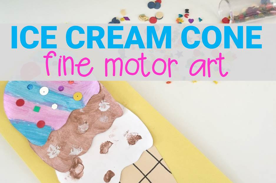 Ice Cream Art Fine Motor Painting
