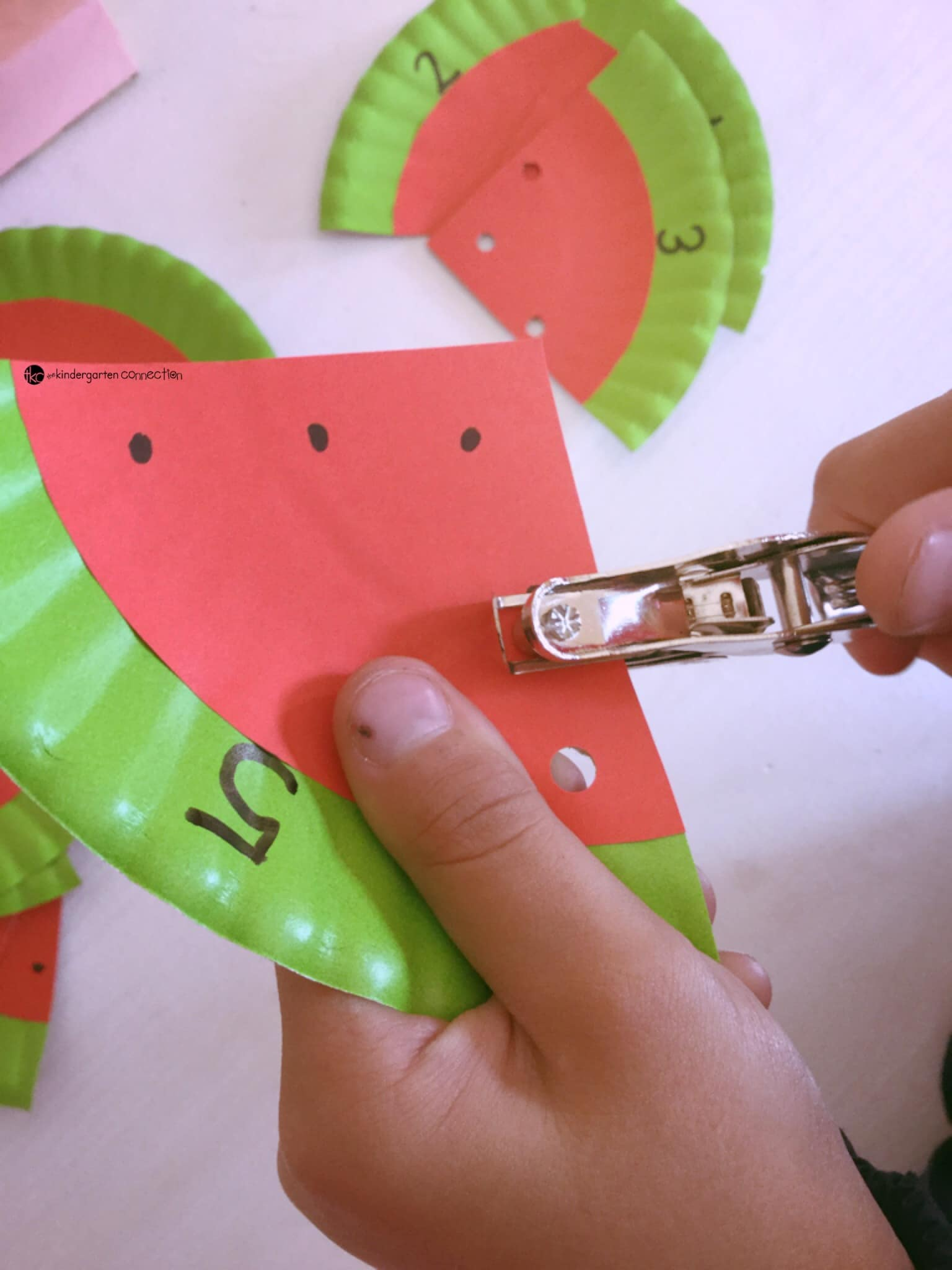Make These Fun Watermelon Counting Cards During Summer For A Lovely And Fine Motor Activity