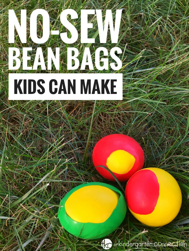 These no-sew DIY bean bags are easy for kids to make, and offer so many possibilities for active playtime fun! Here is a simple step-by-step tutorial.