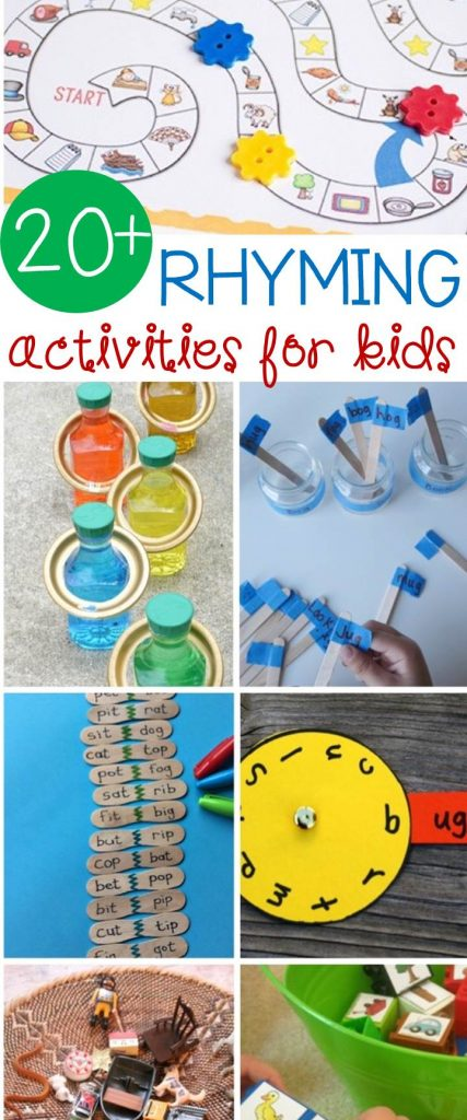 20+ Rhyming Activities for Kids!