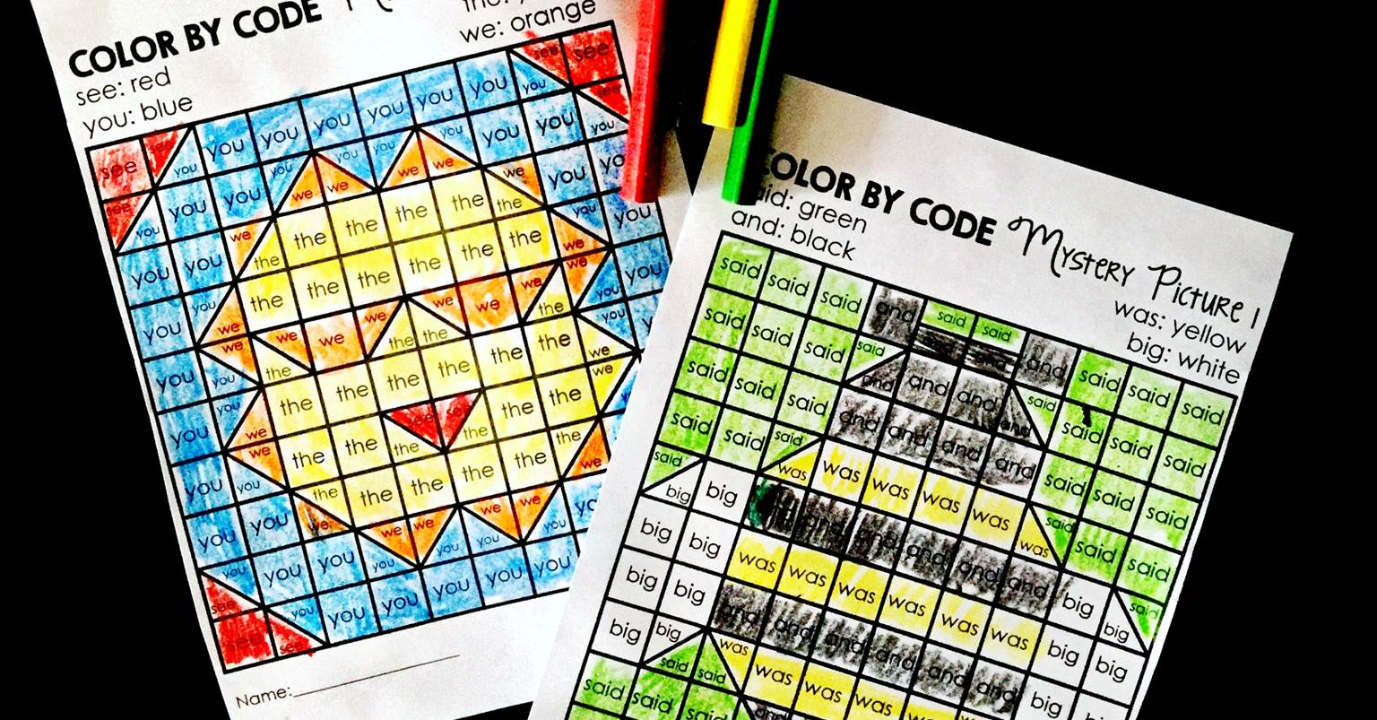 Summer Sight Word Color By Codes for Early Readers