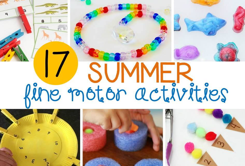 Awesome summer fine motor activities for kids!