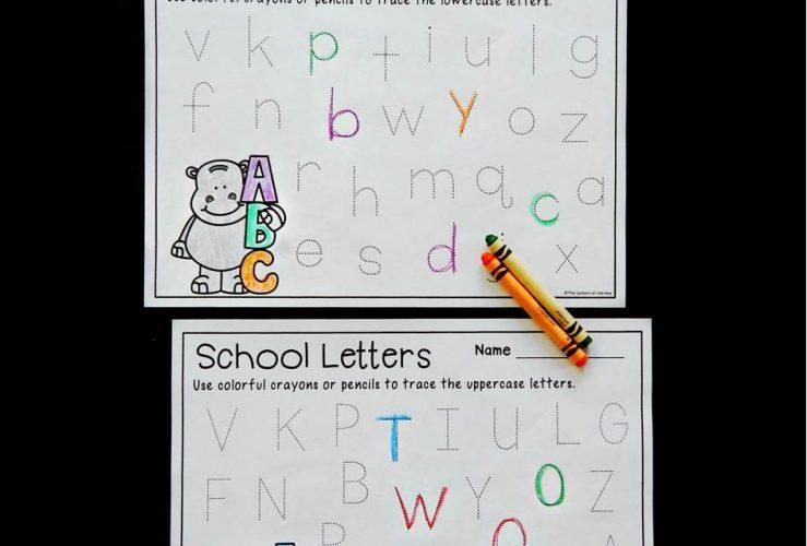 Back to School Alphabet Tracing Printables