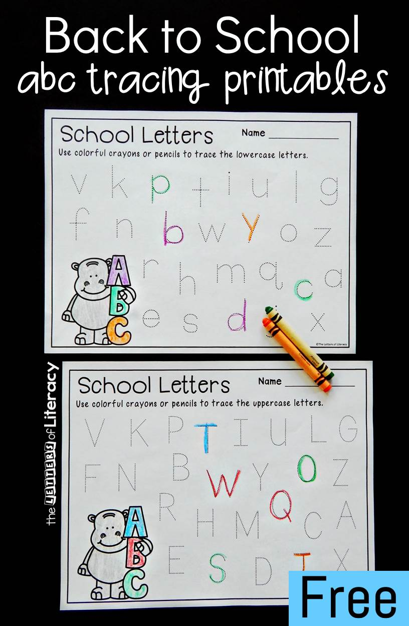 image regarding Letter Printables named No cost Printable Again towards College or university Alphabet Tracing Printables