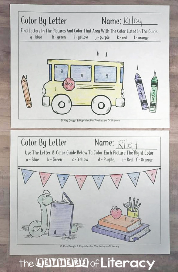Try this Free Back To School Themed Color By Letter printable activity. Any child who loves to color, even just a little bit, will enjoy this fun color by letter!