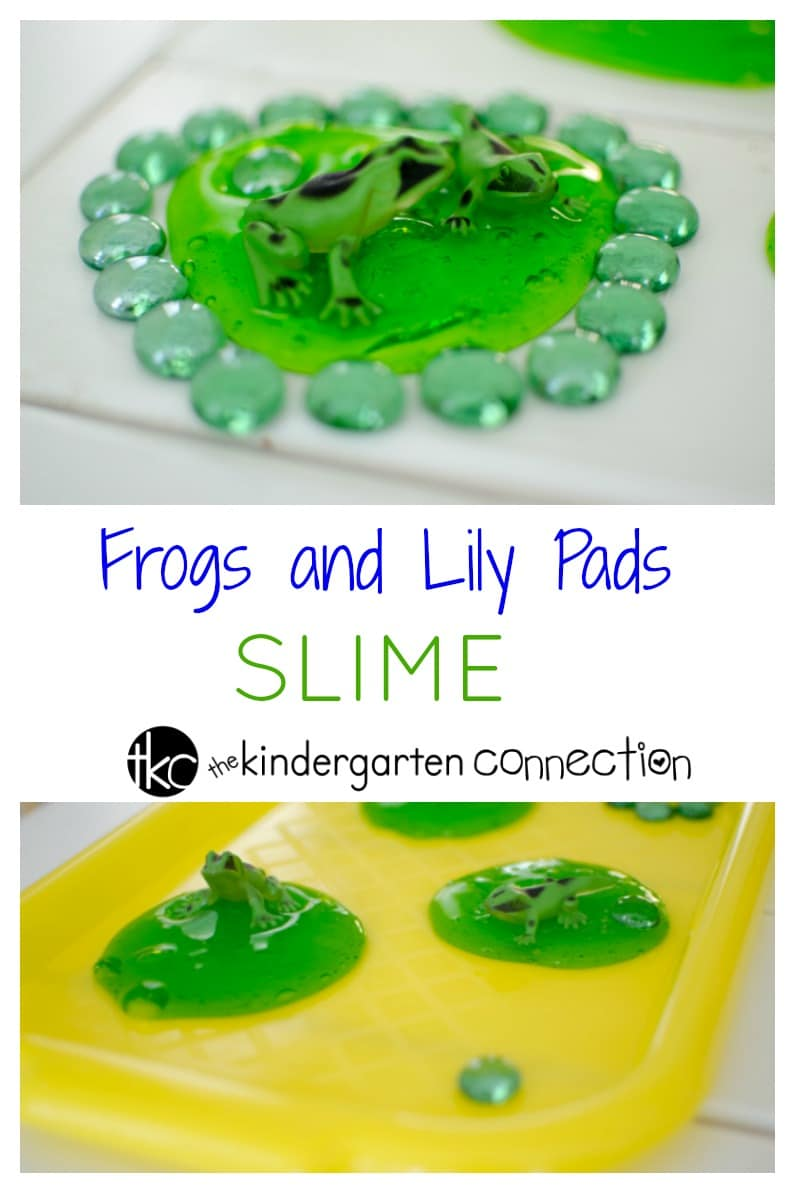 This lily pad frog slime recipe is a great way to make slime and have hands-on fun while learning about ponds or frogs. Use it for a frog theme and frog life cycles.