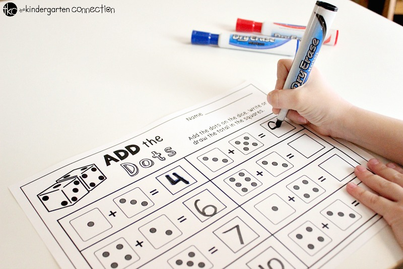 Add the Dots Addition & Add the Doubles Free Printables are perfect for centers, small groups or for homework! Grab these fun dice addition printables!