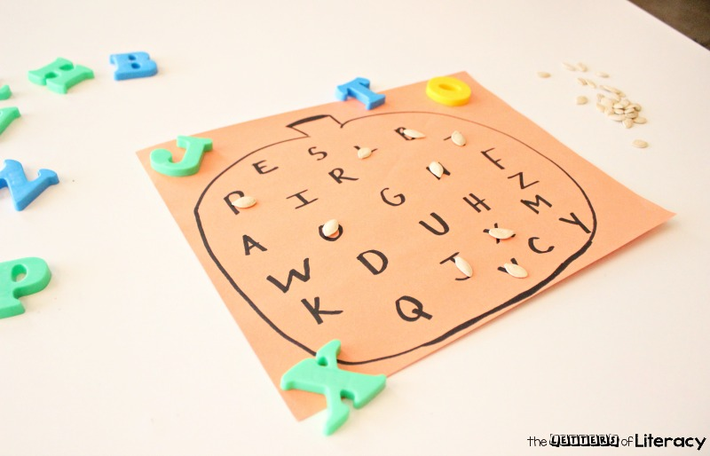 This Easy Pumpkin Alphabet Fall Activity is effective, engaging and so fun! You can create this pumpkin literacy activity with a just a few supplies!