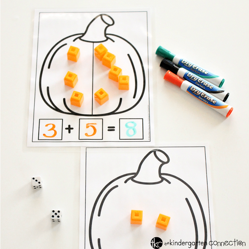 Grab these FREE Addition and Subtraction Pumpkin Math Mats printables! They're perfect for centers, small groups, homeschool and traditional classroom!