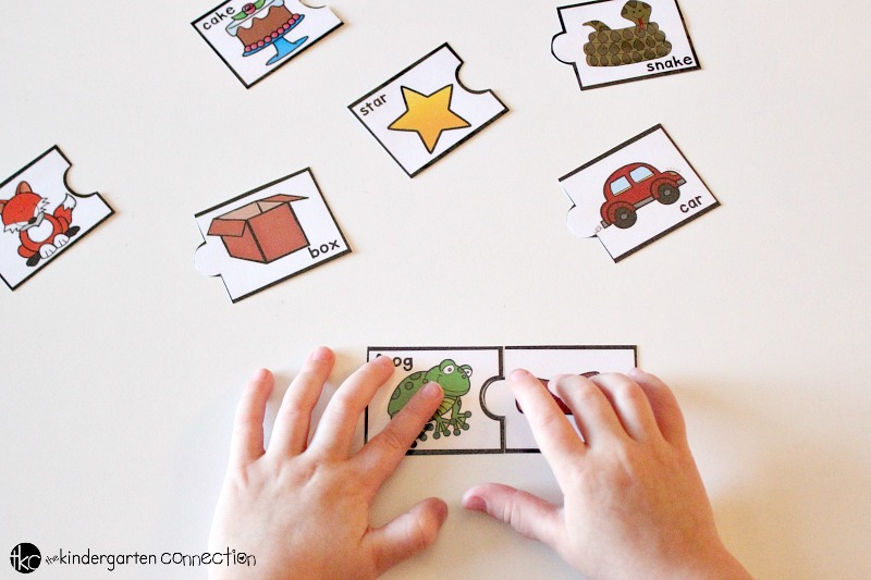 Rhyming Puzzles free printable, cut puzzles out