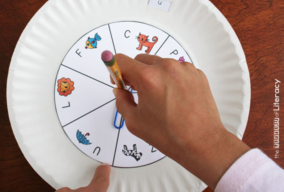 Spin & Slide Letter Matching Activity