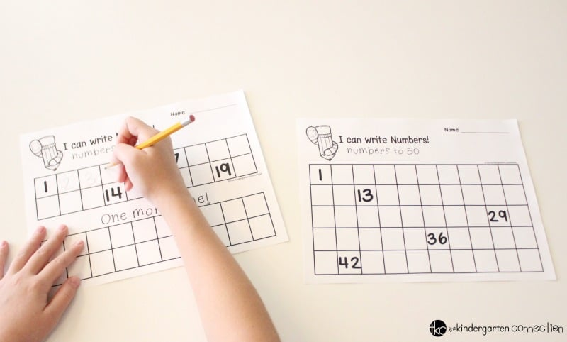 picture relating to Free Printable Table Numbers 1-20 known as Absolutely free Quantity Creating Printables for Kindergarten!