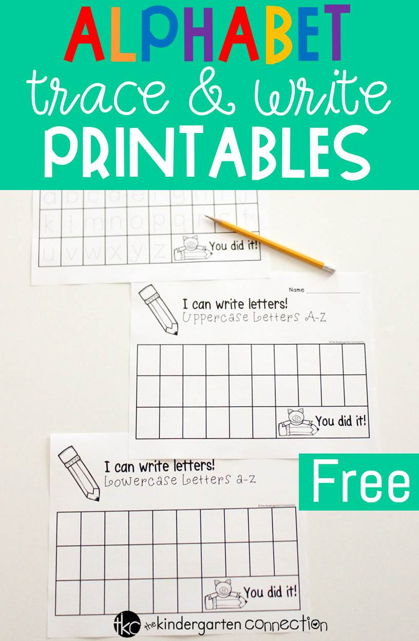 These free alphabet trace and write printables are perfect for Pre-K and Kindergarten students working on recognizing and writing their letters!
