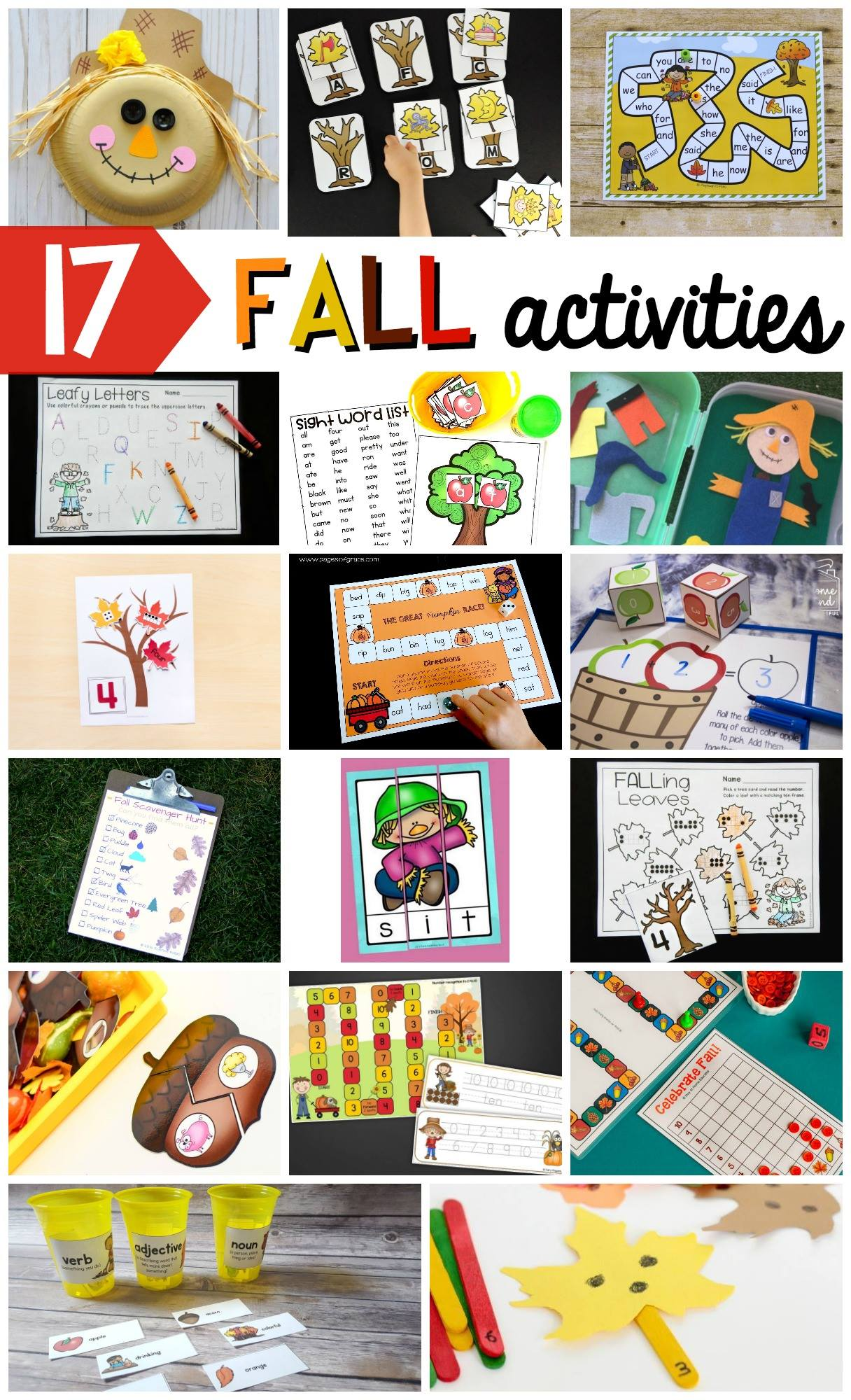 Super fun fall activities for kids!