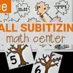 Fall Subitizing Math Center