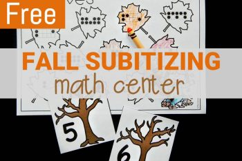 Fall Subitizing Math Center