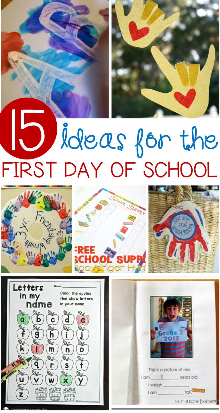 Awesome First Day Of School Activities For Kindergarten