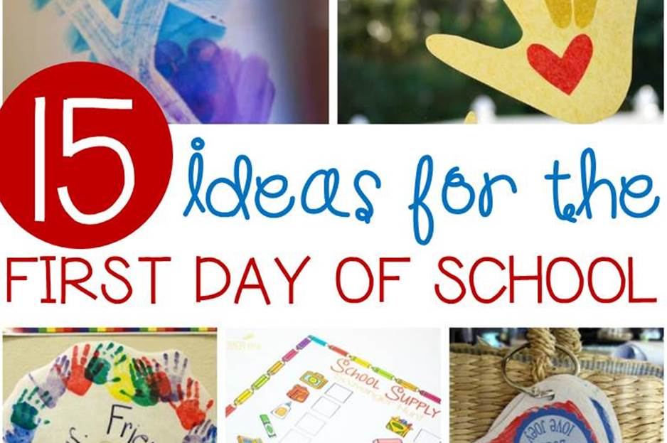 Awesome ideas for the first day of school in Kindergarten