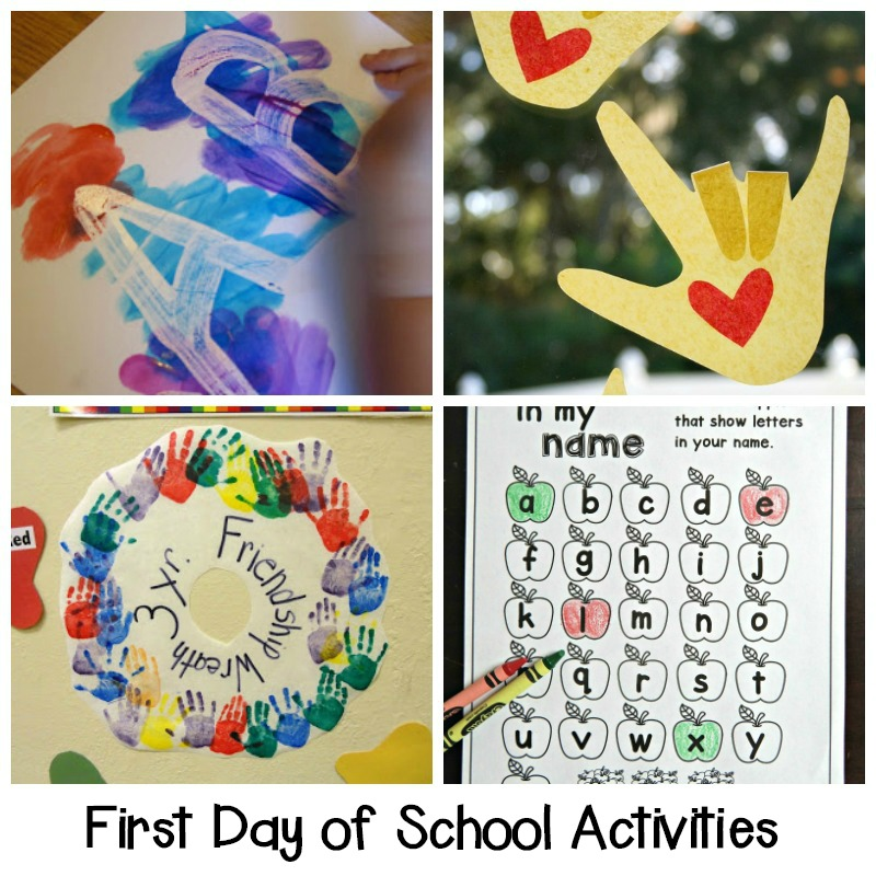 Make the transition to Back to School easier with these fun ideas! These adorable first day of school activities for Kindergarten are sure to be a hit!
