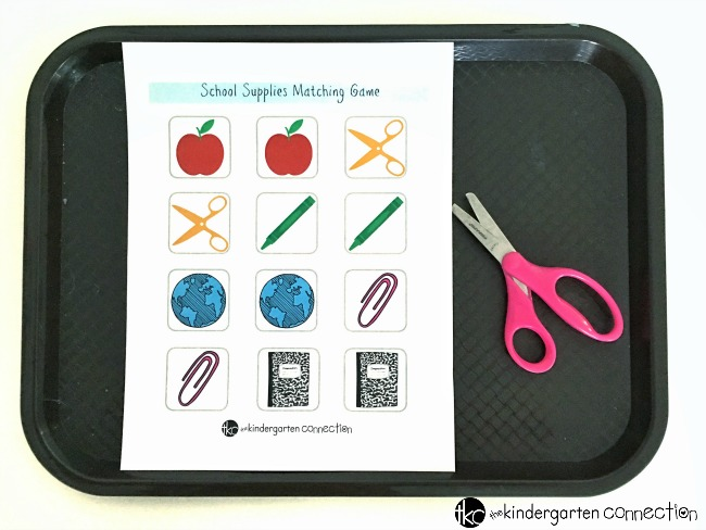This free printable back to school matching game is a fun boredom buster for your home or classroom!
