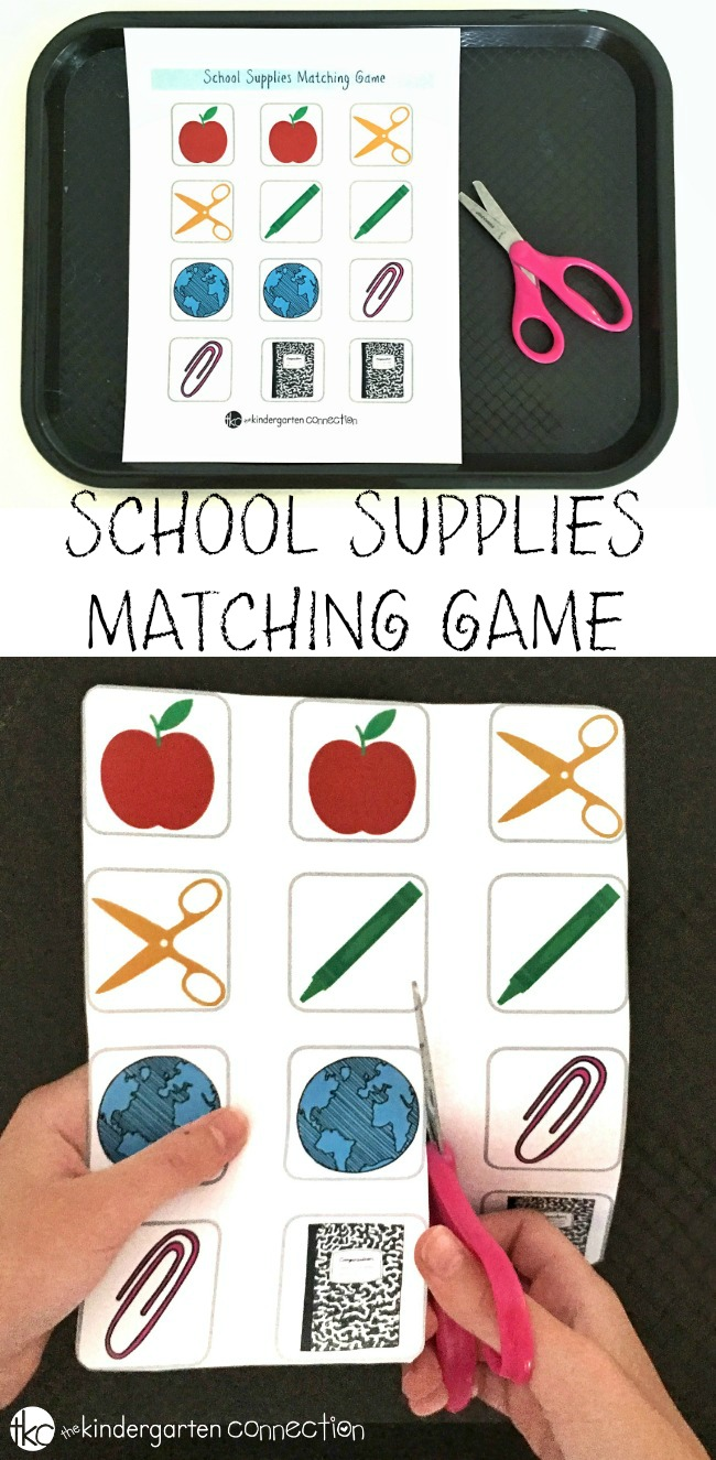 Free Printable Back To School Matching Game