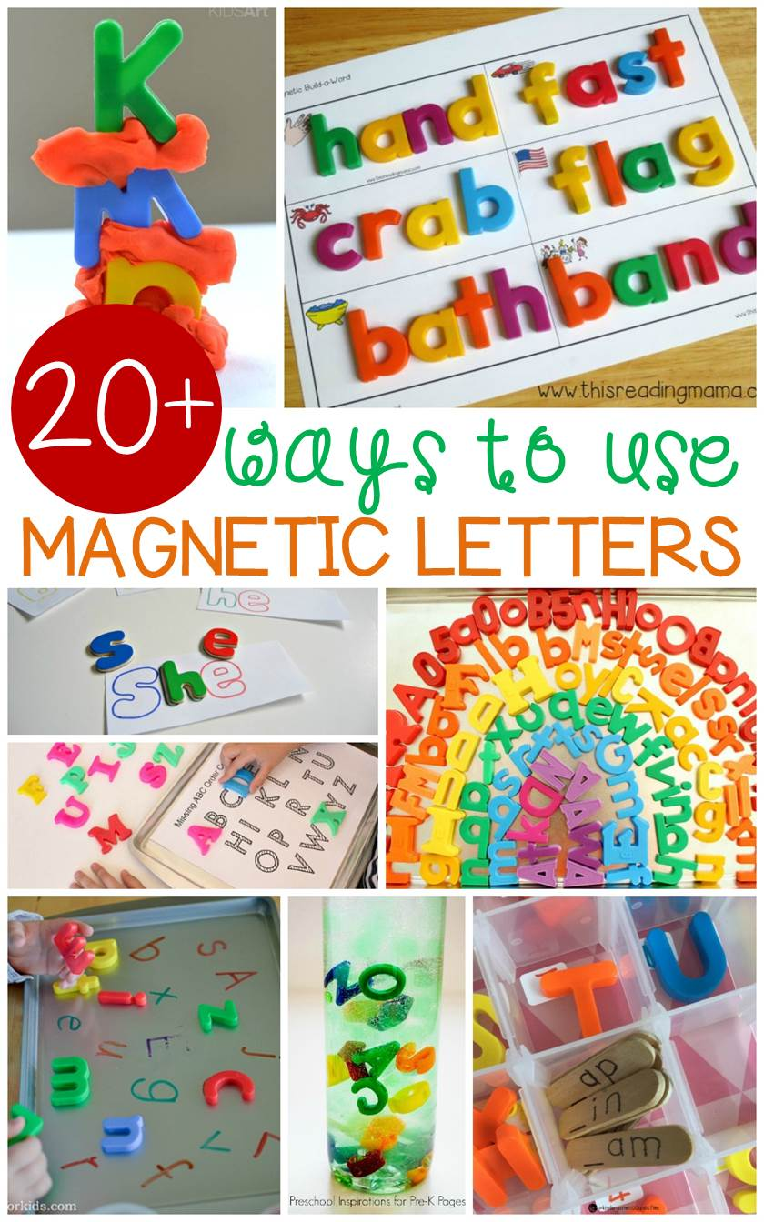 Out of the Box Magnetic Letter Activities Kids Will Love