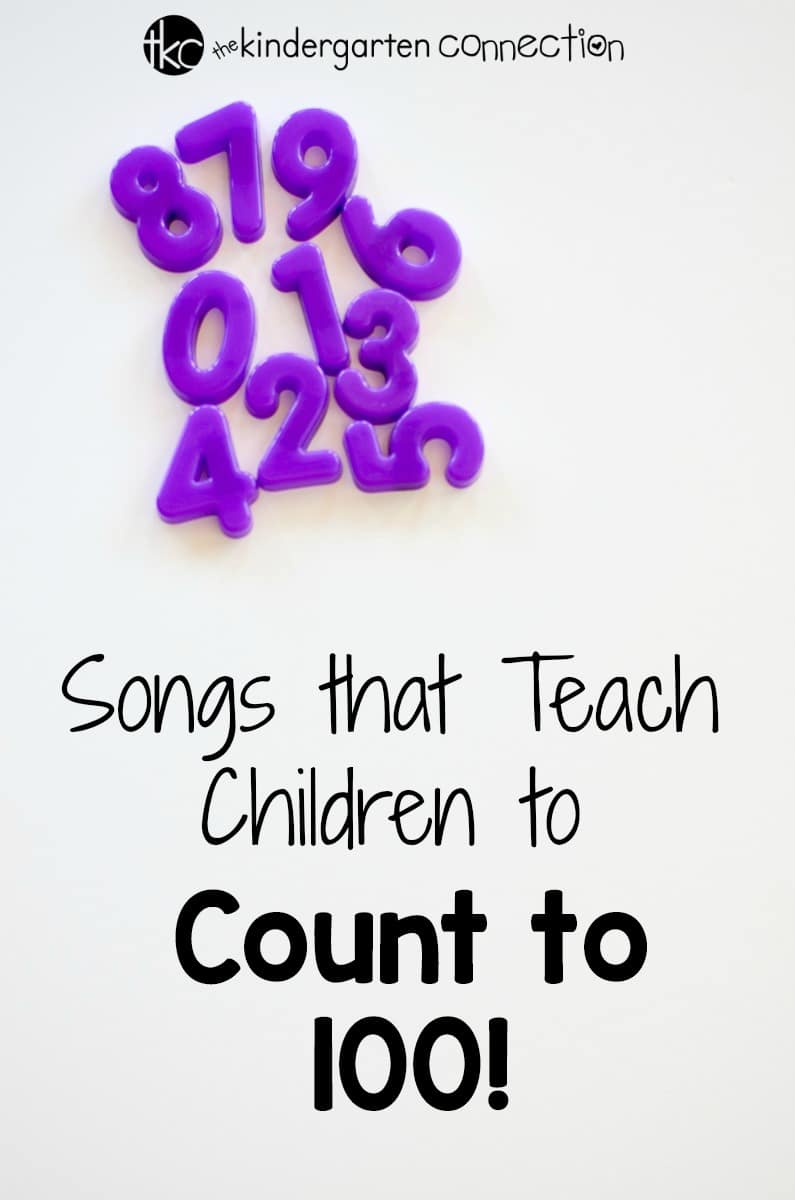 Need a creative way to teach counting from 1 to 100? These songs that teach counting to 100 are perfect for your Kindergarten lesson plans!