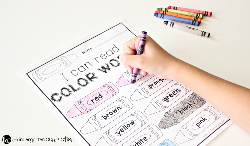 image regarding Color Words Printable called Shade Phrases Absolutely free Printable - The Kindergarten Marriage