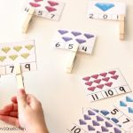 Colorful Gems Count and Clip Cards FREE Printable, count and clip
