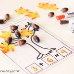 Fall Math Mats free printables for addition and subtraction, featured image