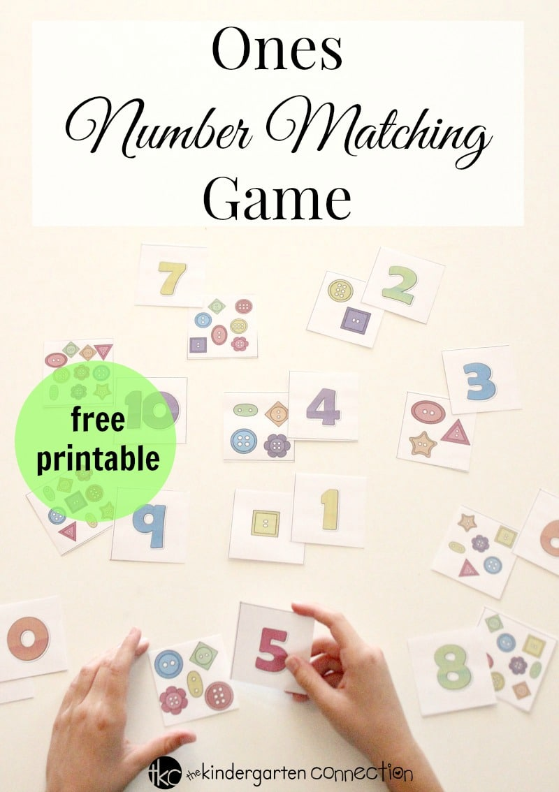 Children can work on one to one correspondance with this Ones Place Number Matching Place Value Activity! This FREE Printable is perfect for kindergarten small groups or math centers!