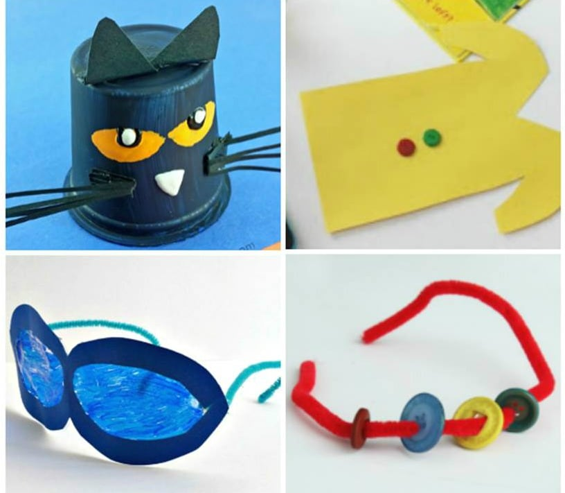 These Pete the Cat activities and crafts are great to pair with some of your favorite books and engage kids even more with their favorite cat character.