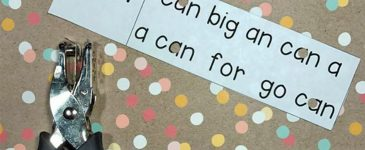 Sight Word Hole Punch Activity