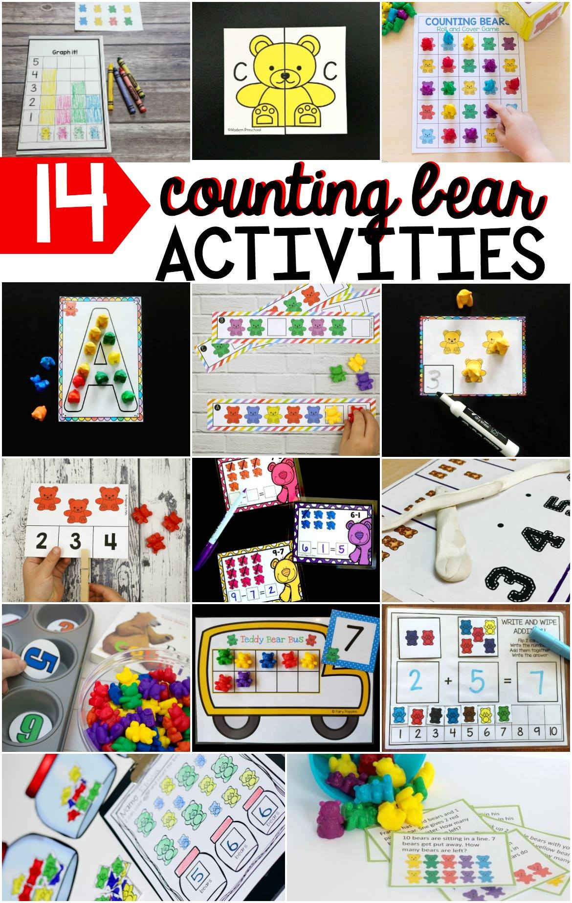 Awesome counting bear activities for kids!