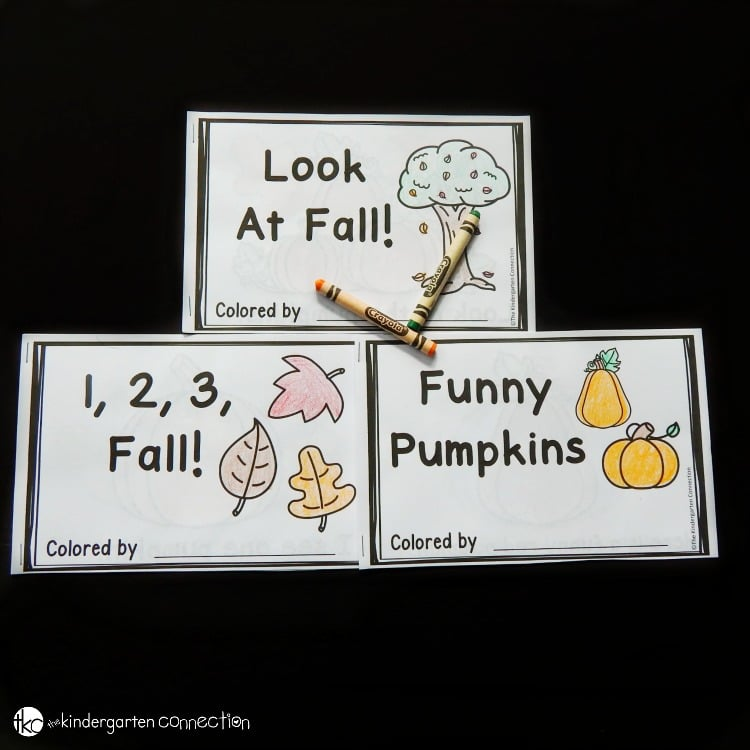 These fall emergent readers are great for working on word tracking, sight words, number words, color words, and more in Kindergarten!