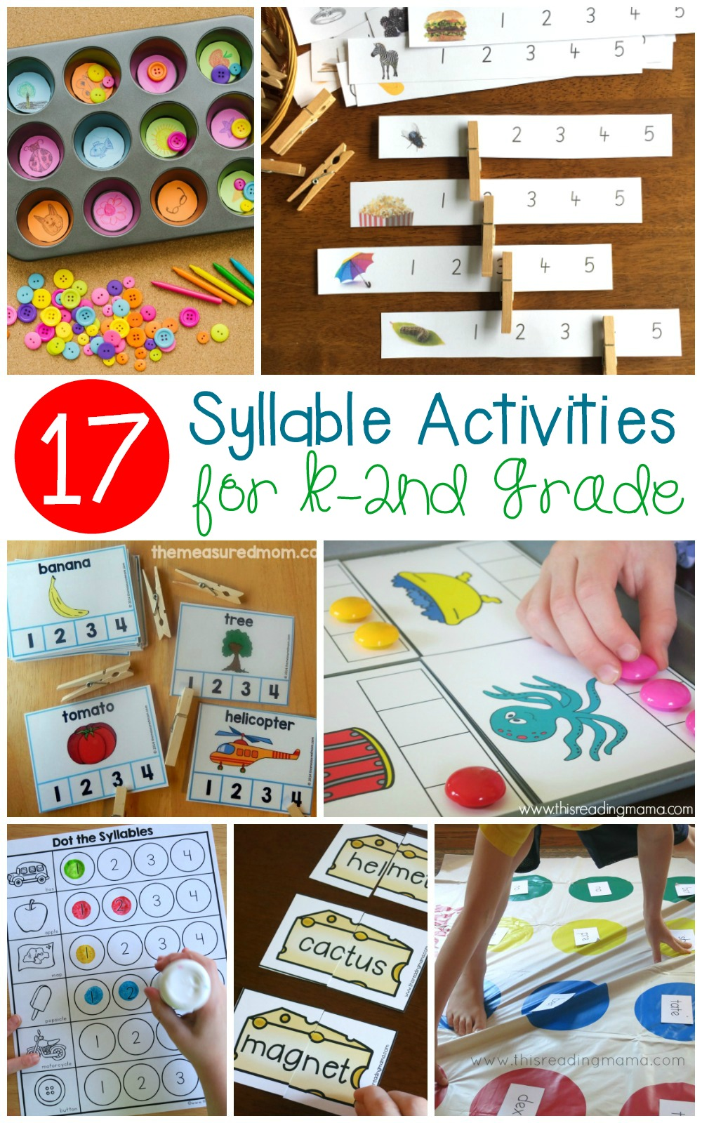 Learning the number of syllables in a word is an important skill for early readers. Make learning fun with these creative and hands-on syllable activities!