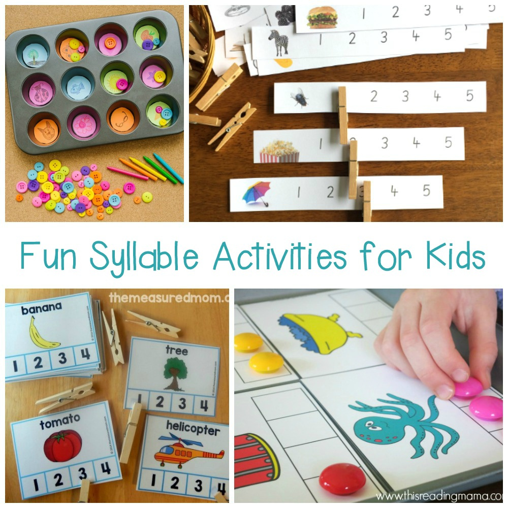 image about Syllable Games Printable identified as How Numerous Syllables? A Syllable Counting Printable Pack
