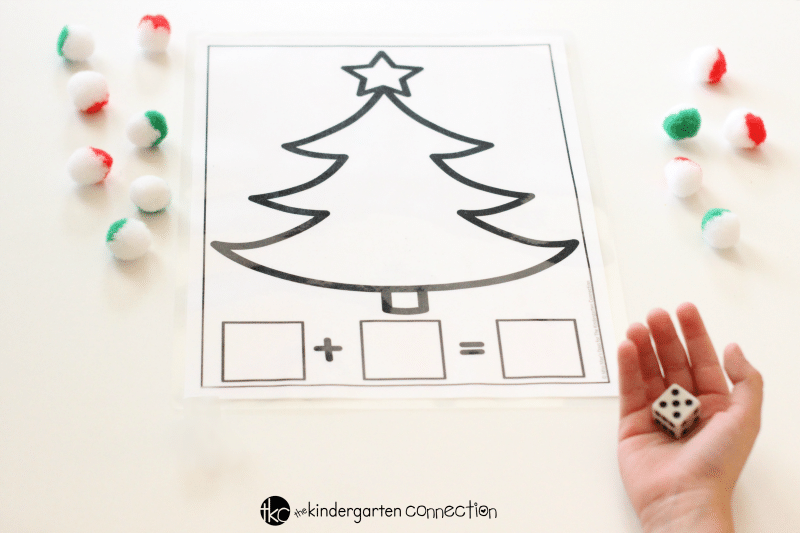 Christmas Addition And Subtraction Math Mat Free Printables Roll Dice on christmas tree math worksheets