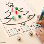 Christmas Addition and Subtraction Math Mats FREE Printables, solve
