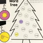 Christmas Tree CVC Word Match