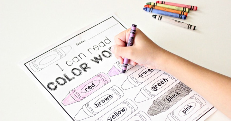 Color Words Free Printable The Kindergarten Connection