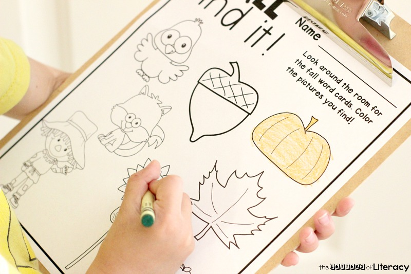 Fall Find It and Color It Free Printables , color