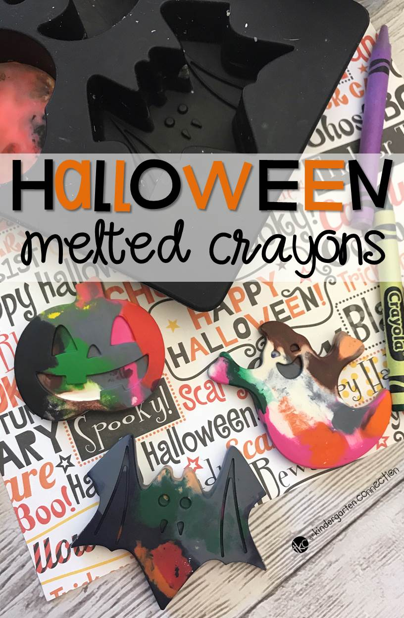 Have old crayons lying around? Instead of throwing them out - recycle them into fun gifts like these Halloween melted crayons!