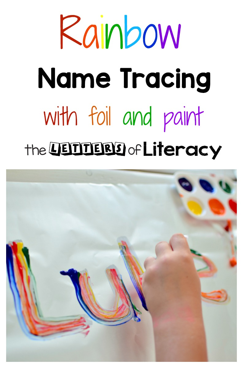 This name tracing art activity is the perfect way to work on name writing while combining art and literacy. Children love this inviting activity while they learn to write their name!