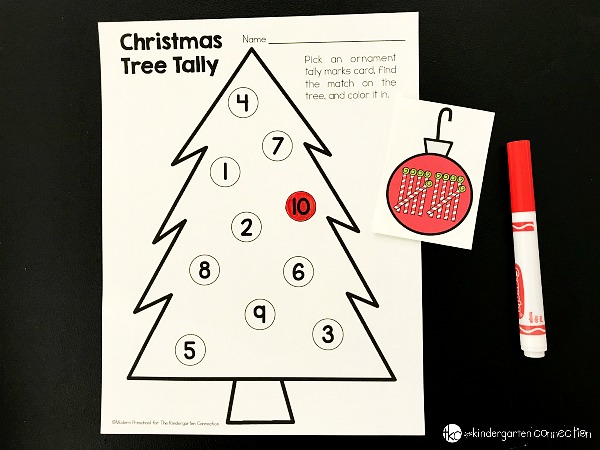 Keep students engaged this winter with fun Christmas centers and printable activities like our Christmas tree tally marks number match game!