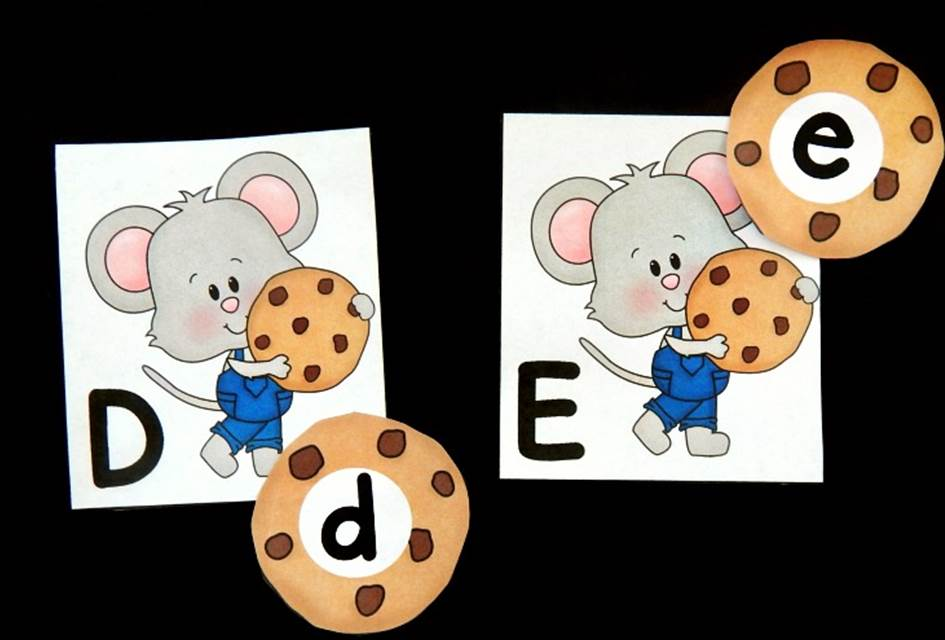 Mouse and Cookie Alphabet Matching Game