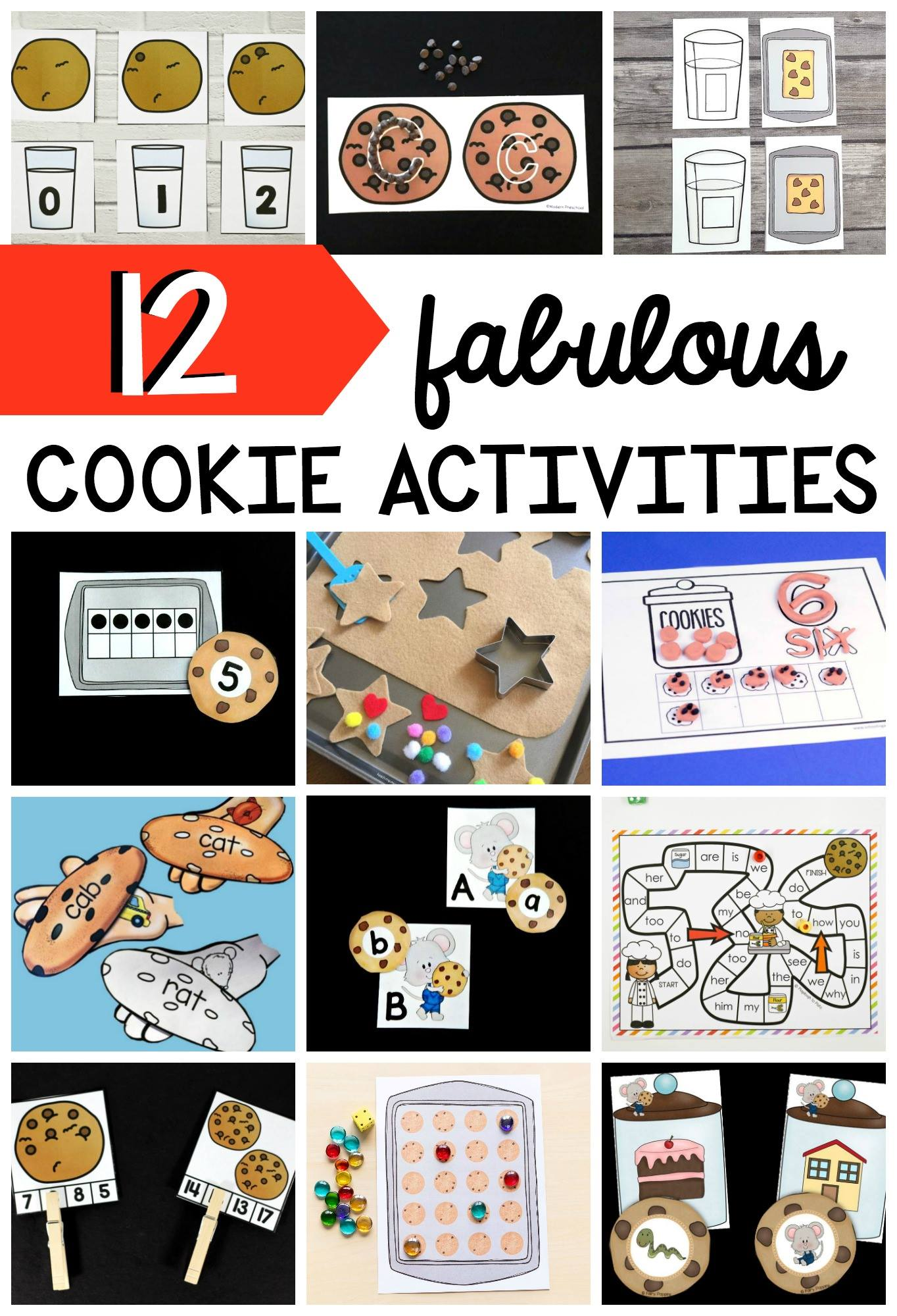 Fun cookie-themed learning activities for kids!