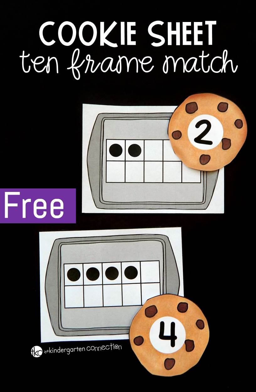 Cookie Ten Frame  Number Match