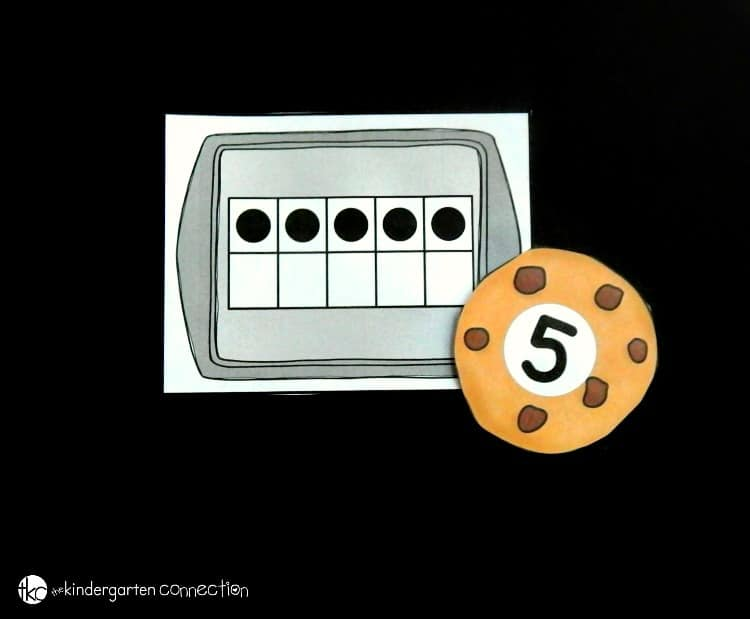 This cookie sheet ten frame matching game is perfect to have on hand in your Pre-K or Kindergarten classroom for learning to match ten frames to numerals!