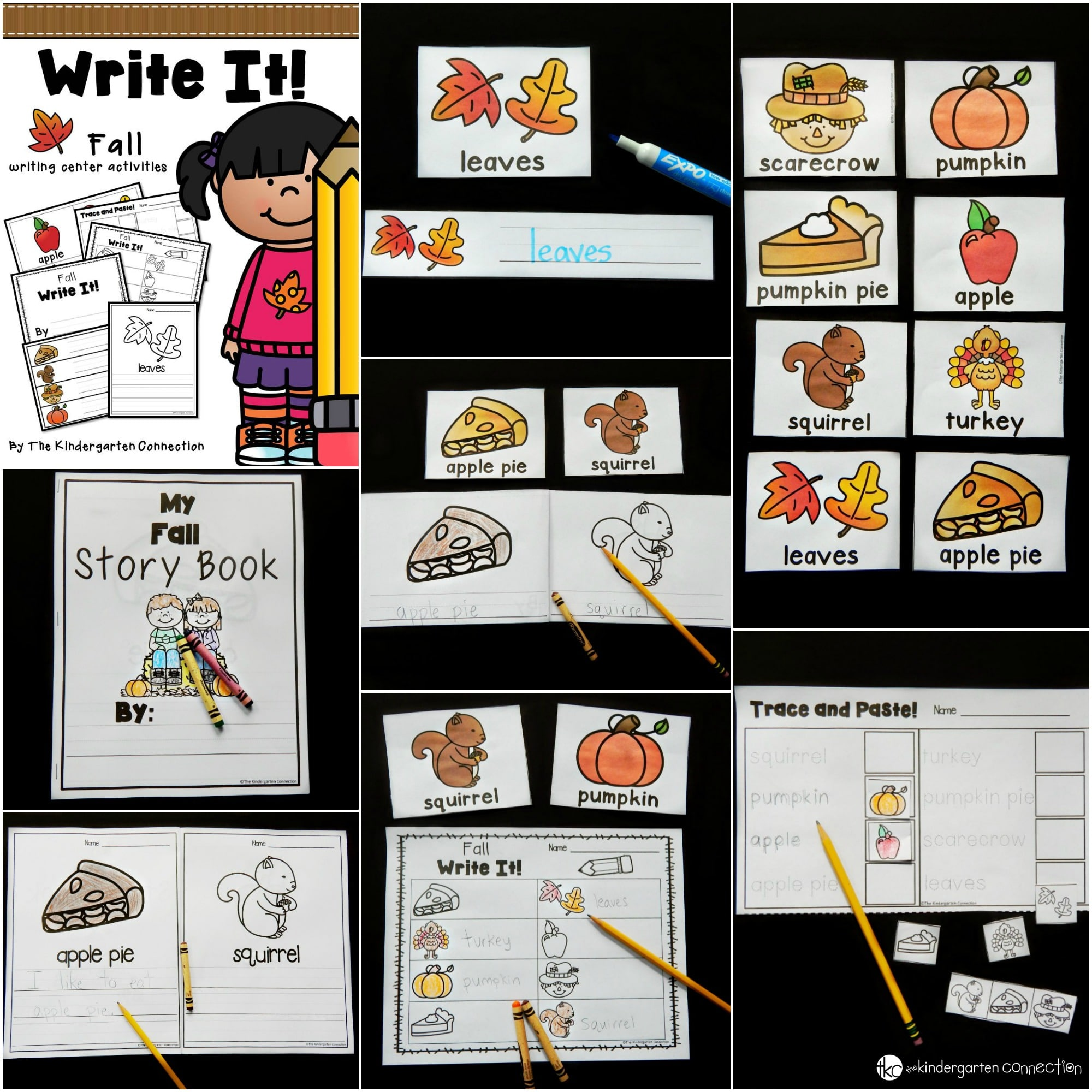 These fall writing centers for Kindergarten are perfect for early writers to practice labeling, building vocabulary, sentence writing, and more!